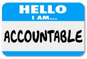 Hello I Am Accountable Name Tag Responsibility Scapegoat
