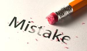 Erasing mistake